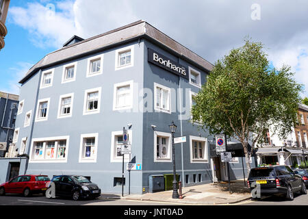Bonhams Auction House, Montpelier Street, Knightsbridge, London, UK - Stock Photo