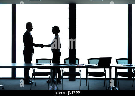Business handshake. Concept of teamwork and partnership - Stock Photo