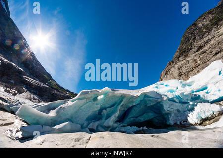 View on Nigardsbreen - Jostedalsbreen glacier in Norway
