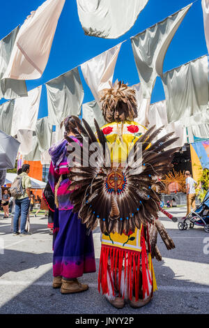 Vancouver, Canada. 30th Jul, 2017. Closing ceremonies at the Drum is Calling Festival, Canada 150  event, Larwill - Stock Photo