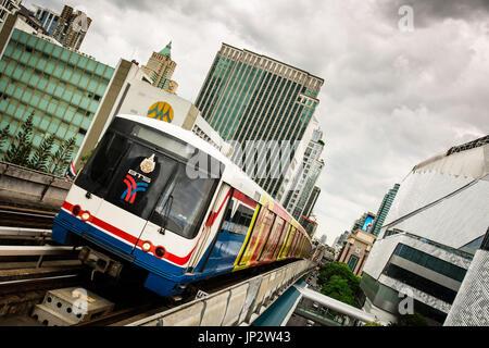 Skytrain (BTS) in Bangkok, Thailand. - Stock Photo