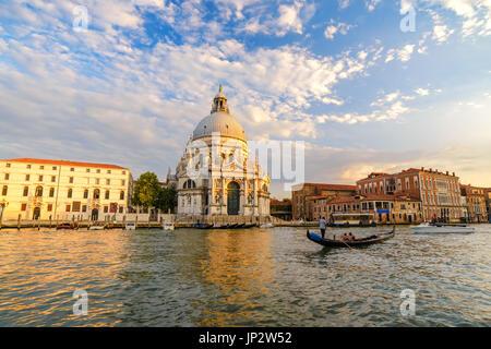 Venice Grand Canal when sunset, Venice (Venezia), Italy - Stock Photo