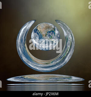 Earth Art 1. Elements of this image furnished by NASA.