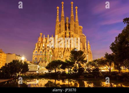 Spain Barcelona Spain Barcelona antoni gaudi sagrada familia Barcelona la sagrada familia cathedral Barcelona Spain - Stock Photo