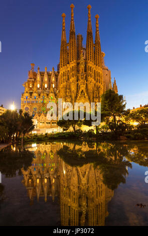 Spain Barcelona Spain Barcelona antoni gaudi sagrada familia Barcelona la sagrada familia cathedral Barcelona Spain - Stock Photo