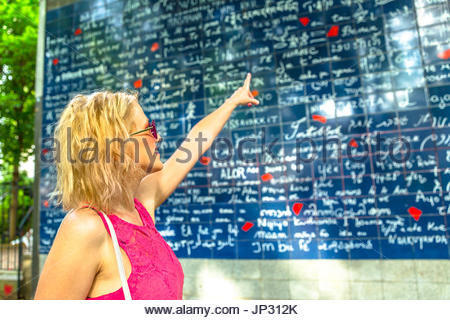 Montmartre I love you wall - Stock Photo