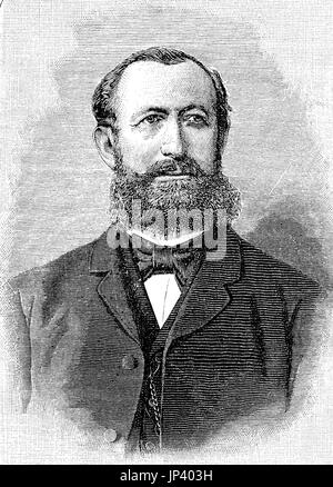 Hermann Senator, December 6, 1834 - July 14, 1911, was a German internist who was a native of Gnesen in the Prussian - Stock Photo