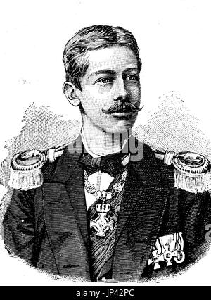 Prince Albert Wilhelm Henry of Prussia, August 14, 1862 - April 20, 1929, was son of Crown Prince Friedrich Wilhelm - Stock Photo