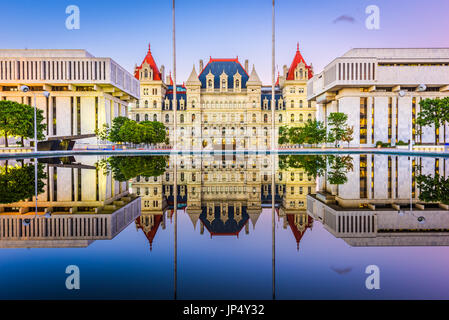 Albany, New York, USA at the New York State Capitol. - Stock Photo