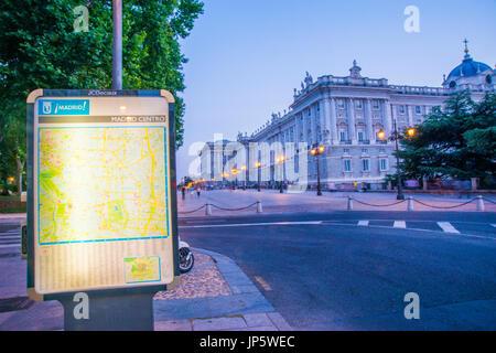 Map of Madrid capital city Spain Stock Photo 96119867 Alamy