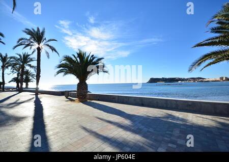 Promenade. Puerto de Mazarrón - Stock Photo