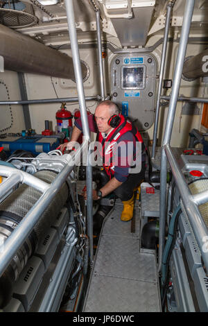 RNLI Lifeboat Helm / Control Room - Stock Photo