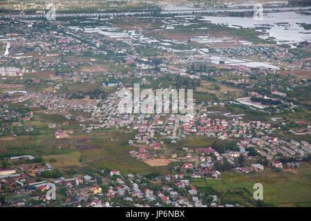 Aerial view of Banda Aceh, Sumatra - Stock Photo
