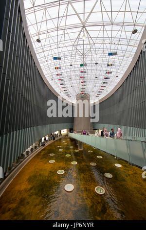 Aceh Tsunami Museum interior - Stock Photo