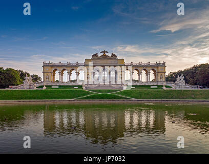 The Gloriette, Schonbrunn Palace, Vienna, Austria - Stock Photo