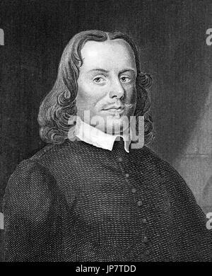 John Bunyan (1628-1688), Engraving, 1874. - Stock Photo