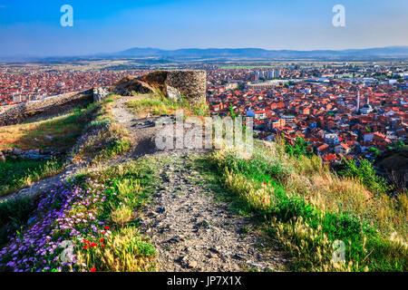 Europe, Kosovo, Prizren, Historic city, Prizren Fortress, Призренски град, Prizrenski grad, Kaljaja, Каlаја, Каљаја, - Stock Photo