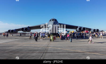 Boeing B-52 Stratofortress at Air Show, Homestead Air Force Base, Florida, USA, - Stock Photo