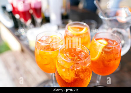 professional catering. Canape with fresh fruits. Festive food. - Stock Photo