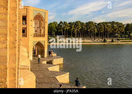 Khaju-Bridge, Isfahan, Iran - Stock Photo