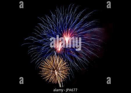 July 4. Fireworks, Miami, Florida, USA - Stock Photo