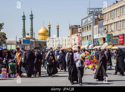 Iran, Qom City, Hazrat-e Masumeh (Holy Shrine) - Stock Photo