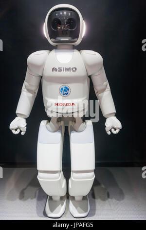 Japan, Honshu, Tokyo, Odaiba, National Museum of Emerging Science and Innovation aka Miraikan, Robot 'Asimo' - Stock Photo