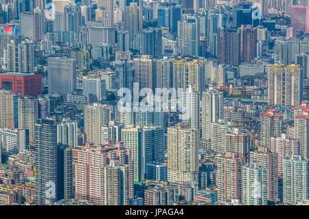China, Guangdong Province, Guangzhou City, Central Guangzhou skyline - Stock Photo