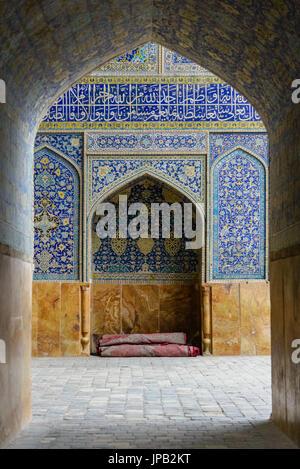 ISFAHAN, IRAN - OCTOBER 13, 2014: blue Shah Mosque south of Naqsh-e Jahan Square, Isfahan - Stock Photo