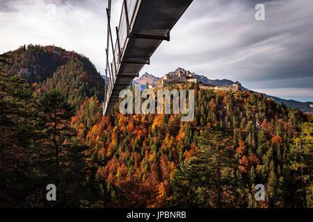 Ehrenberg Castle, Reutte, Reutte in Tirol district, Tirol region, Austria - Stock Photo