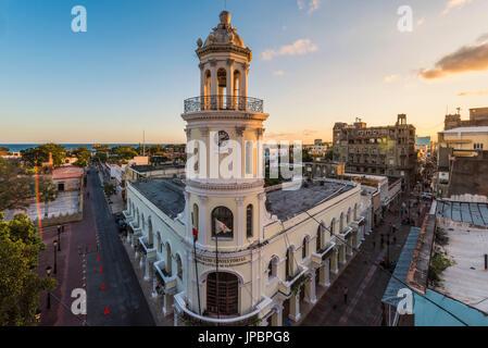Colonial Zone (Ciudad Colonial), Santo Domingo, Dominican Republic. The Colonial architectures of the Palacio Consistorial. - Stock Photo