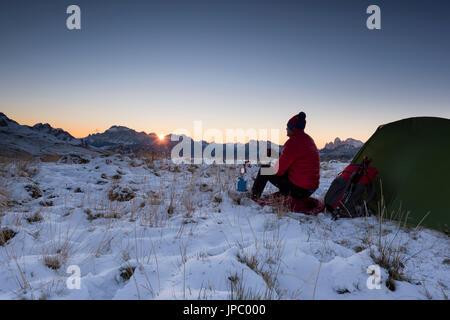 Dolomites, Fassa Valley, San Pellegrino Pass, Europe, Trentino, Alps, Italy, - Stock Photo