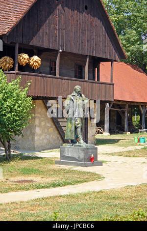 CROATIA KUMROVEC, 4 AUGUST 2013: Statue of Josip Broz Tito, first president of Yugoslavia, in Kumrovec, Croatia - Stock Photo