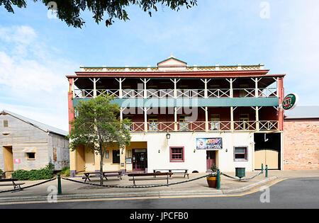 Historic building of the Criterion Hotel in Maryborough Heritage Precinct, Queensland, QLD, Australia - Stock Photo