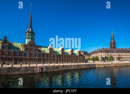 The Borsen, Old Stock Exchange Building in Copenhagen, Denmark - Stock Photo