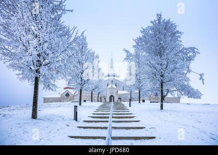 Europe, Czech Republic, Czechia, Žďár nad Sázavou, Zelená hora, Pilgrimage Church of St John of Nepomuk, Poutní - Stock Photo