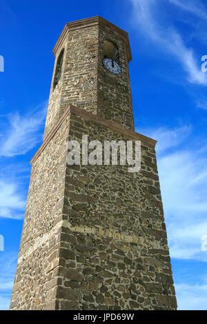 Castelsardo town sited in Sardinia , Italy - Stock Photo