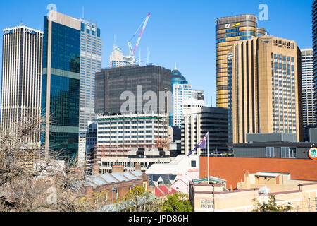 Sydney skyline cityscape with Four seasons hotel and new EY offices,Sydney,Australia - Stock Photo