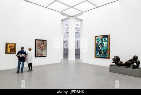 Interior of the Pinakothek der Moderne art gallery, Munich, Bavaria, Germany - Stock Photo