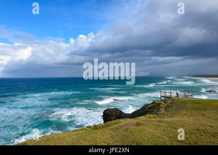View from Tacking Point, Port Macquarie, New South Wales, NSW, Australia - Stock Photo