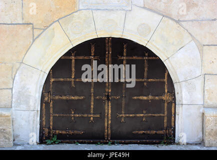 Small metal forged gates - Stock Photo