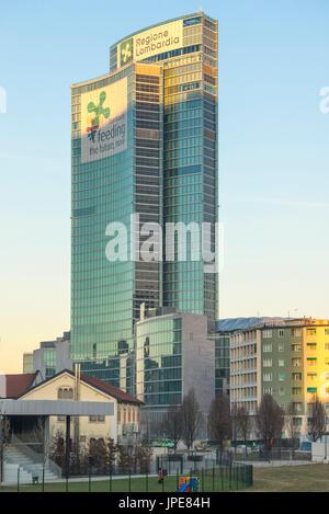 Milan, Lombardy, Italy. The Palazzo della Regione Lombardia - Stock Photo