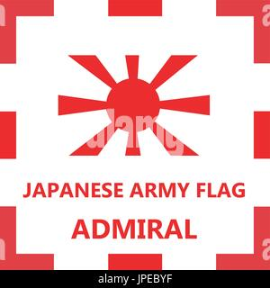 Japanese army flag - Admiral - Stock Photo