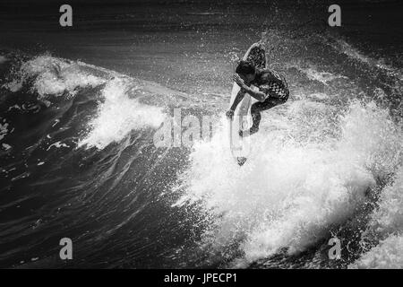 US Open of Surfing in Huntington Beach, CA - Stock Photo