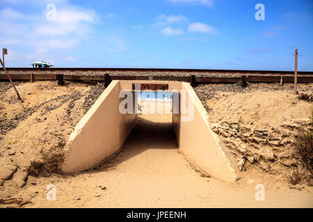 Summer at the San Clemente State Beach in Southern California - Stock Photo