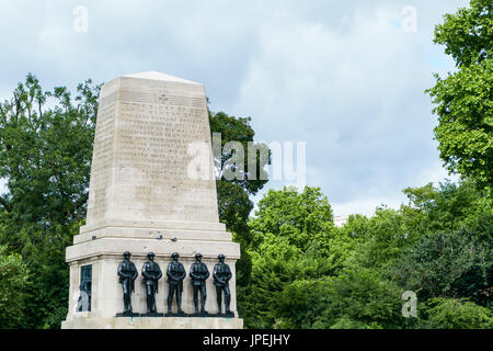 LONDON - JULY 30 : The Guards Memorial in London on July 30, 2017 - Stock Photo