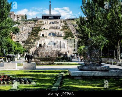 Cascade, center Yerevan, Yerevan region, Armenia - Stock Photo