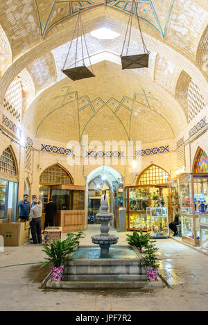 ISFAHAN, IRAN - OCTOBER 18, 2014: Bazar of Isfahan, Iran - -  one of the UNESCO world heritage sites - Stock Photo