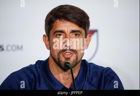 Chicago, USA. 1st Aug, 2017. MLS All-Stars coach Veljko Paunovic delivers a press conference prior to the friendly - Stock Photo