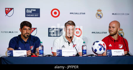 Chicago, USA. 1st Aug, 2017. MLS All-Stars captain Bastian Schweinsteiger delivers a press conference prior to the - Stock Photo